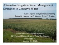Alternative Irrigation Water Management Strategies to Conserve Water