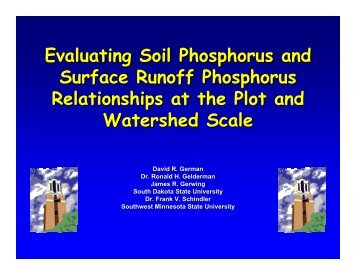 Evaluating Soil Phosphorus and Surface Runoff Phosphorus ...