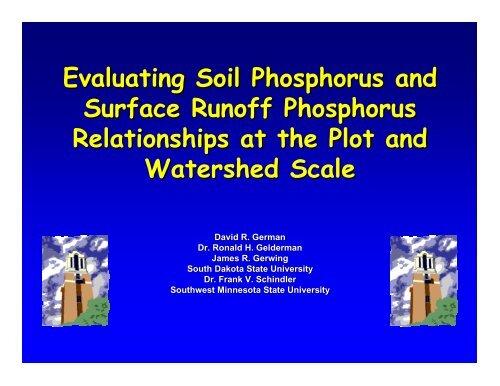 Evaluating Soil Phosphorus and Surface Runoff Phosphorus ...