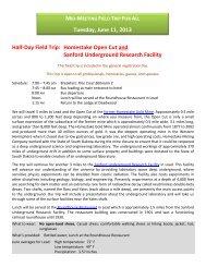 Homestake Open Cut and Sanford - South Dakota Geological Survey