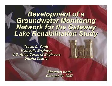 Development of a Groundwater Monitoring Network for the Gateway ...