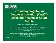 Evaluating Vegetation Evapotranspiration - South Dakota ...