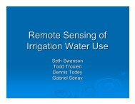 Remote Sensing of Irrigation Water Use