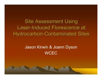 Site Assessment Using Laser-Induced Florescence at Hydrocarbon ...