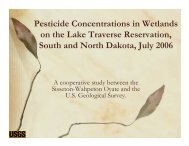 Pesticide Concentrations in Wetlands on the Lake Traverse ...