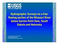 Hydrographic Surveys on a free- flowing portion of the Missouri River