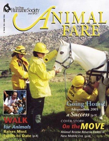 FALL 2005 • V ol. 40 No. 3 - San Diego Humane Society and SPCA