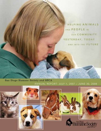 AND PEOPLE IN - San Diego Humane Society and SPCA