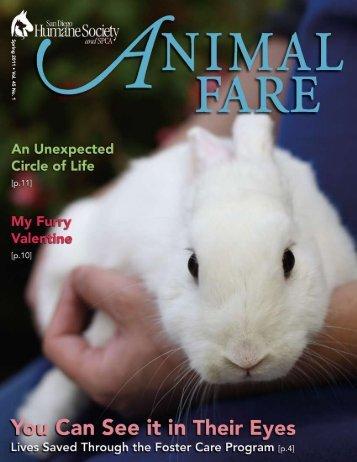 Spring 2011 • V ol. 45 No. 1 - San Diego Humane Society and SPCA