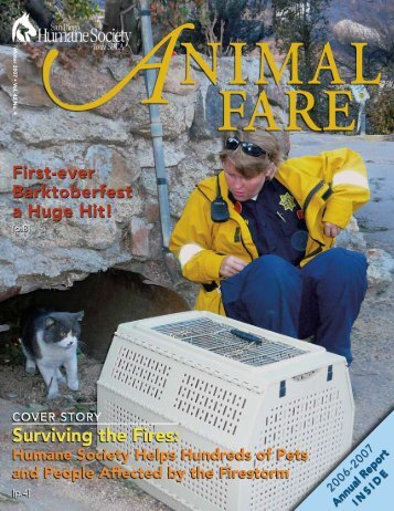 2006-2007 Annual Report - San Diego Humane Society and SPCA