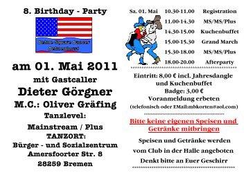 am 01. Mai 2011 Dieter Görgner