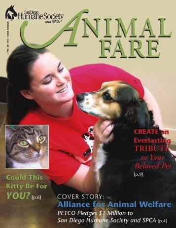 SPRING 2005 • V ol. 40 No. 1 - San Diego Humane Society and SPCA