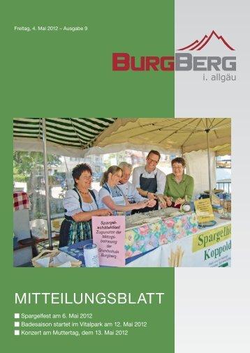 Eröffnung am 12. Mai ab 10 Uhr - Burgberg