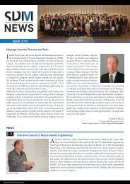 SDM News April 2010 - Keio University