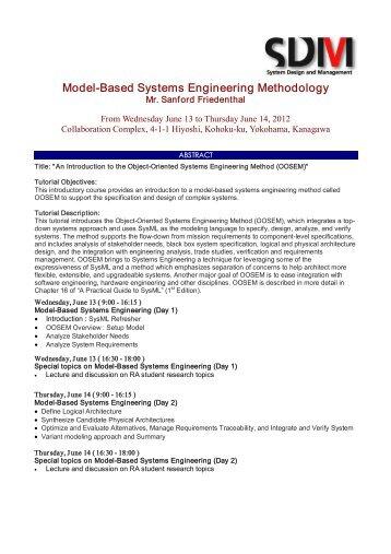 Model-Based Systems Engineering Methodology