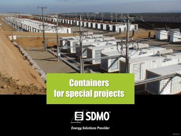 Containers for special projects - SDMO
