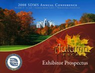 2008 SDMS Annual Conference Exhibitor Prospectus - Society of ...