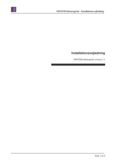 Installationsvejledning