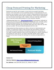 Cheap Postcard Printing For Marketing