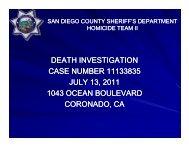 Rebecca Zahau Investigation - San Diego County Sheriff's Department