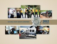 2012 Annual Report - San Diego County Sheriff's Department