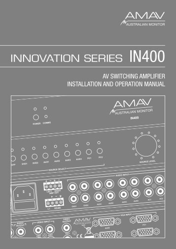 AM-IN400 Manual.indd - SDS Music Factory AG