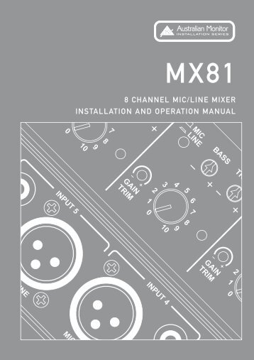 MX81 Manual - Australian Monitor