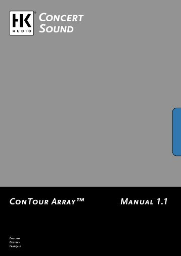 Manual 1.1 ConTour Array™ - SDS Music Factory AG