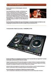 Herzlich willkommen zur Herbst-Ausgabe unseres DJ Newsletters ...