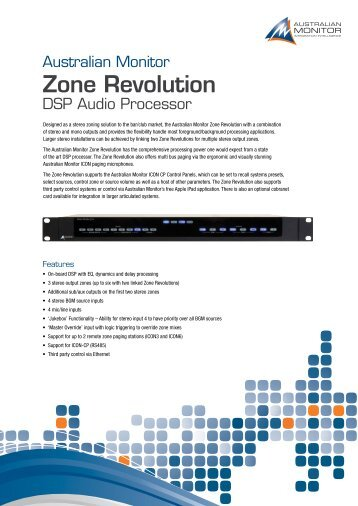 Zone Revolution Brochure LR - Australian Monitor