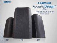 Small format, surface-mount loudspeakers S8T S12 S10T - Aplauz