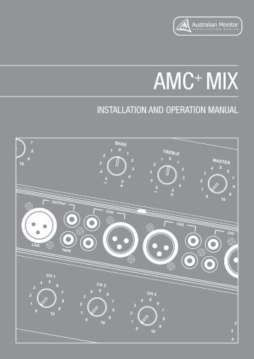AMC+MIX Manual - Australian Monitor