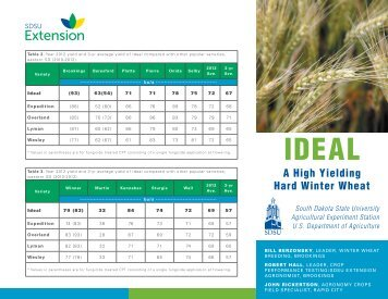 Ideal Hard Red Winter Wheat - South Dakota State University