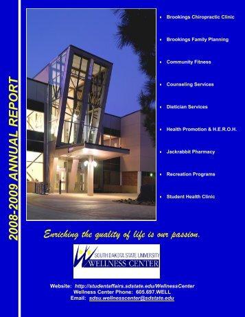 Annual Report 2008-2009 - South Dakota State University