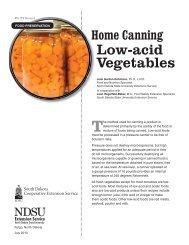 Home Canning Low-acid Vegetables - South Dakota State University
