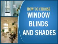 How to choose window Blinds and Shades
