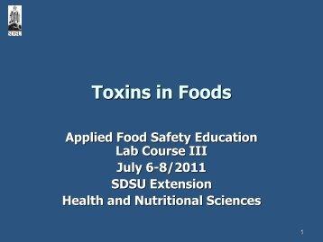 Toxins in Foods