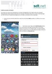 E-Mails versenden mit Android Sie erhalten von sdt.net eine E-Mail ...