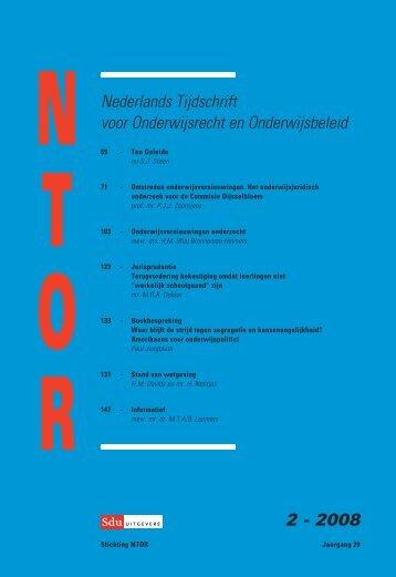 Nederlands tijdschrift voor onderwijsrecht en onderwijsbeleid - Sdu