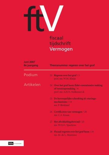 fiscaal tijdschrift Vermogen - Sdu