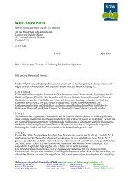 Stellungnahme zum Entwurf eines Gesetzes zur Änderung des ...
