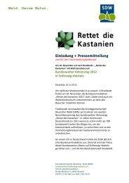 Einladung + Pressemitteilung - SDW Schleswig-Holstein
