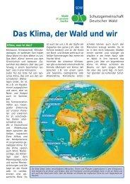 Das Klima, der Wald und wir - Schutzgemeinschaft Deutscher Wald