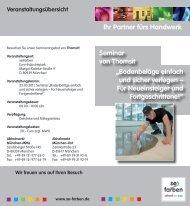 """Seminar von Thomsit """"Bodenbeläge einfach und sicher ... - se farben"""