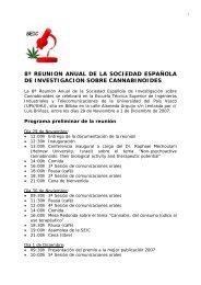 8ª reunion anual de la sociedad española de investigacion sobre ...