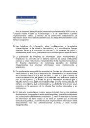 Ante la demanda de rectificación presentada por la compañía MSD ...