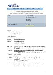 Programa de EXPERTOS ESAME en MEDICINA-FARMACÉUTICA 1