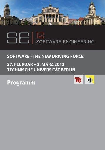 Programm - SE 2012 - TU Berlin