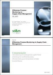 SE 2007 Effizientes Prozess- Monitoring im Supply Chain ...