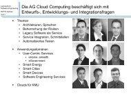 Arbeitsgruppe Cloud Computing - SE@RWTH
